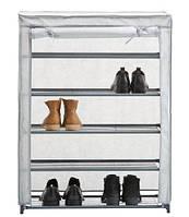 Тканевый шкаф для обуви складной (4 полки), фото 1