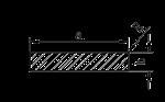 Алюминиевая полоса 200х10, 1 метр | Шина, Анод