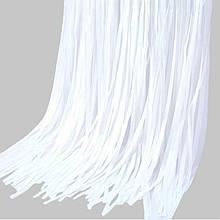 Занавес из фольги для оформления 1x2 м белый