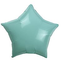 Фольгированный шар 10' Китай Звезда мятная макарун, 25 см