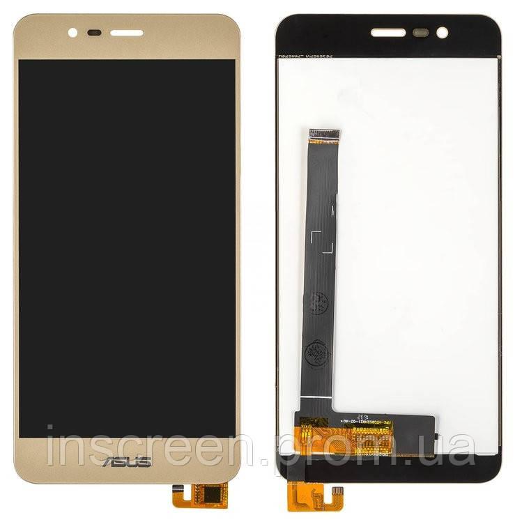 Дисплей Asus ZenFone 3 Max (ZC520TL) X008D з сенсором (тачскрін) золотий, фото 2