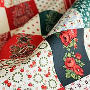 24023 Ткань новогодняя. Рождественские узоры. Подойдет для новогоднего декора, пэчворка, скрапбукинга., фото 2