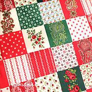 24023 Ткань новогодняя. Рождественские узоры. Подойдет для новогоднего декора, пэчворка, скрапбукинга., фото 4
