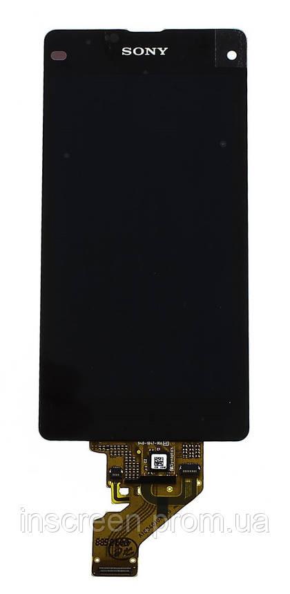 Дисплей Sony D5503 Xperia Z1 Компактний Mini з сенсором (тачскрін) чорний, фото 2
