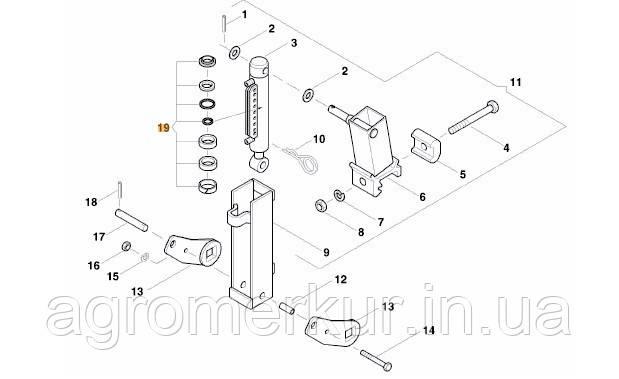 Рем. комплект гідравлічного циліндра AC820927 Kverneland, фото 2