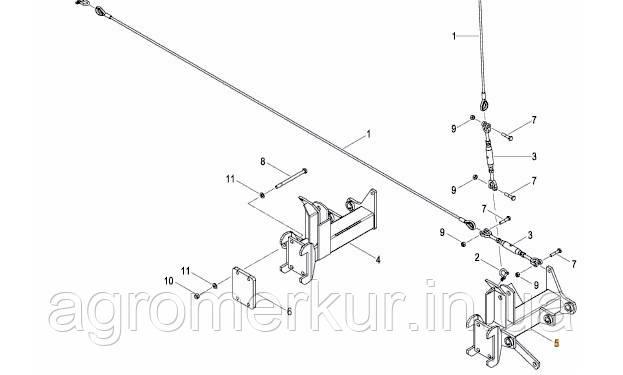 Кронштейн маркера AC824178 правий 6-9M Kverneland, фото 2