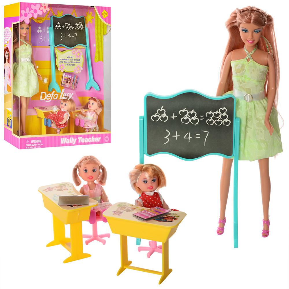 Кукла Defa Lucy учительница 6065 с ученицами