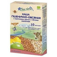 Каша молочная Fleur Alpine Органик Пшенично-овсяная с грушей и яблоком, 200 г