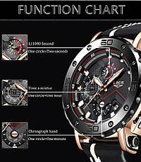"""Мужские оригинальные наручные часы """"LIGE 9899"""", фото 3"""