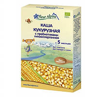 Каша безмолочная Fleur Alpine Органик кукурузная с пребиотиками гипоаллергенная, 175 г