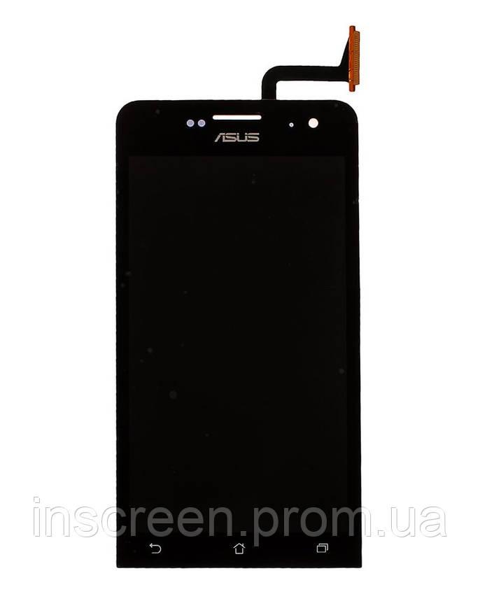 Экран (дисплей) Asus ZenFone 5 (A500CG), (A500KL), (A501CG) T00J с тачскрином (сенсором) черный, фото 2