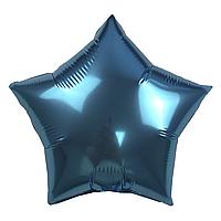 Фольгированный шар 10' Китай Звезда голубая, 25 см