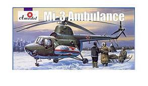Ми-3 Санитарный вертолет. Сборная модель в масштабе 1/72. AMODEL 7297
