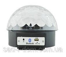 Светодиодный вращающийся Диско Шар LED RGB Magic Ball Light + Bluetooth