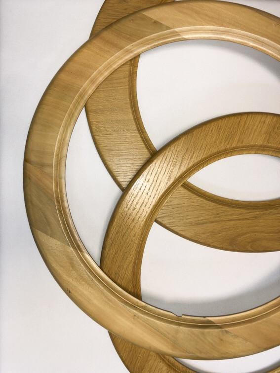 Багет дерев'яний круг/овал нст-др4СМ(ТЕ/СВ/БІ)