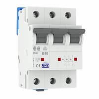 Автоматический выключатель SEZ PR63 В10A 3P 10kA