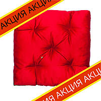Подушка на стул Кедр на Ливане квадратная стеганная серия Puff 40x40x8 см Красная (1012)