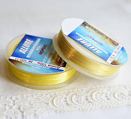 Люрекс ALLURE, пшеничний жовтий, 100м, Spark Beads