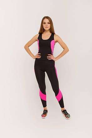 Костюм для фитнеса майка и лосины 2533  Pink, фото 2