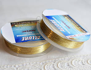 Люрекс ALLURE, світле золото, 100м, Spark Beads