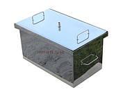 Коптильня большая с гидрозатвором из нержавеющей стали (520x310x280)