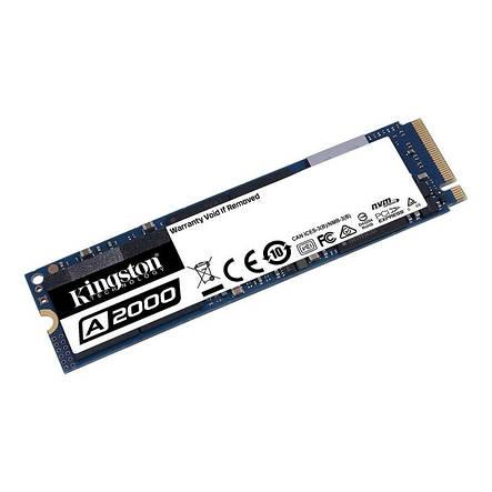Накопитель SSD 1ТB Kingston A2000 M.2 2280 PCIe NVMe 3.0 x4 3D TLC (SA2000M8/1000G), фото 2