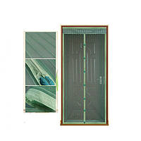 Антимоскитная сетка Magic Mesh на магнитах | Антимоскитная магнитная штора | Зеленая