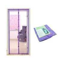 Антимоскитная сетка Magic Mesh на магнитах | Антимоскитная магнитная штора | Фиолетовая