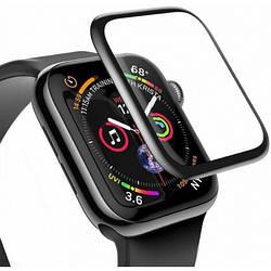 Защитное стекло Baseus Full-screen для Apple Watch (42mm), Black (SGAPWA4-D01)