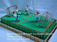 """Футбольное поле из конфет """"Футбольная шкатулка"""""""