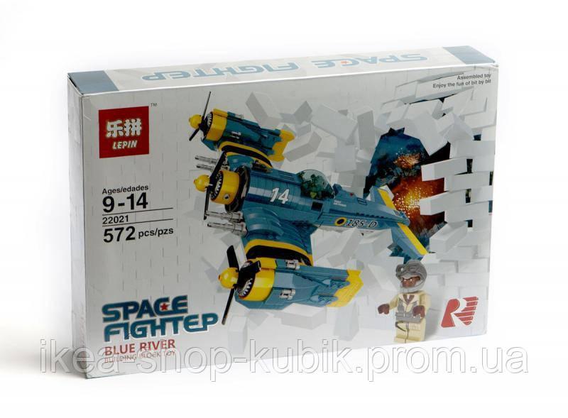 Конструктор Lepin 22021 Space Fighter — Боевой самолёт 572 дет