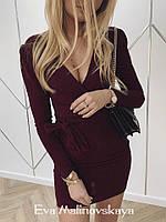 Женское платье люрекс бордо черный синий S M, фото 1