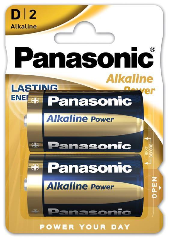 Батарейка Panasonic Alkaline Power D/LR20 BL 2 шт (2955)