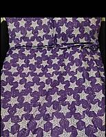 Постельный комплект Звезды на фиолетовом (бязь)