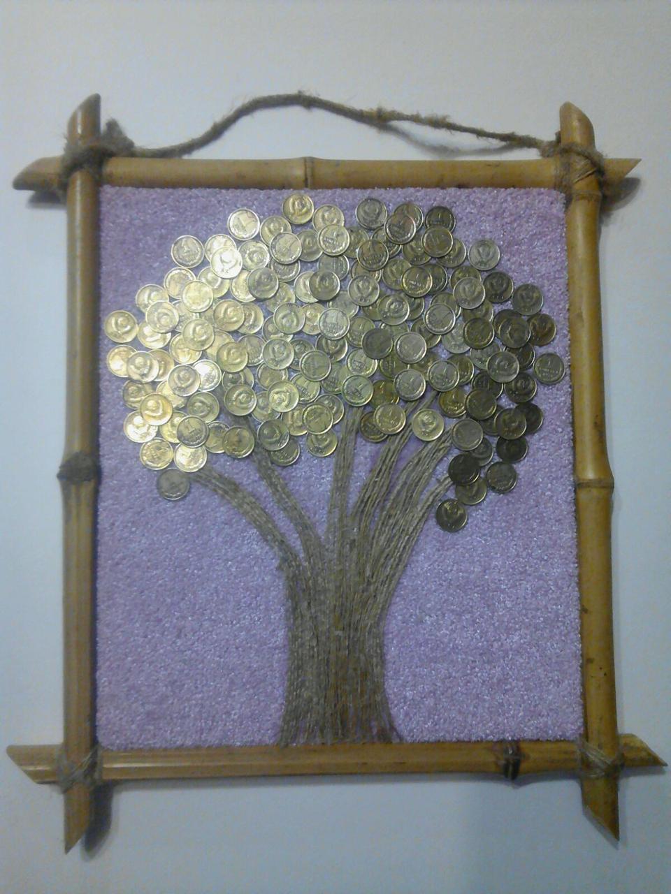 Денежное дерево из монет СССР 29*25 см, ручная работа! Счастливое дерево на стену!