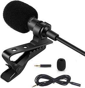 Професійний петличний мікрофон ZL06 (для камер, смартфонів, планшетів, ноутбуків, ПК)