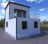 Дачный модульный дом 2 этажа, фото 2