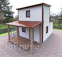 Дачный модульный дом 2 этажа, фото 1