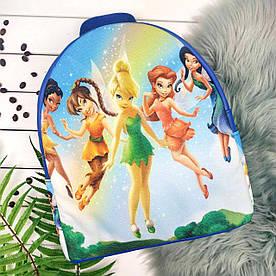 Синий рюкзак для девочки с принтом Феи