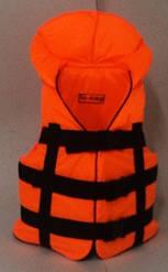 Жилет спасательный детский оранжевый 30-50 кг.