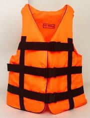 Жилет спасательный оранжевый 90-110 кг.