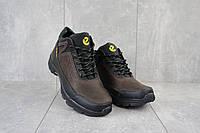 Кроссовки мужские Ecco, зимние мужские ботинки кожаные экко.