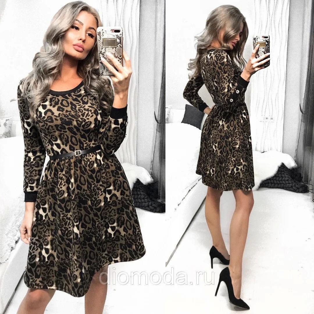 """Шикарное женское платье с пуговками в виде декора ткань """"Французский трикотаж"""" 42 размер норма"""