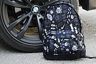 Городской рюкзак мужской/женский спортивный молодёжный/подростковый/школьный Сумка на ноутбук|черный Найк/Nike