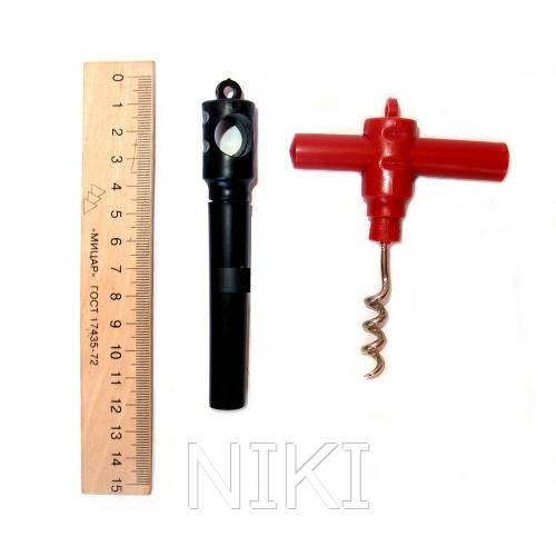 Штопор пласт. раскладной 11 см. 12 шт / уп