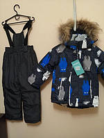 Зимний термо комбинезон детский костюм на мальчика девочку ан. reima