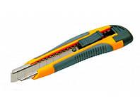Нож 17-0119 пласт. автозамок 2 лезвия 18мм с накладк. Master-tool