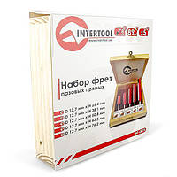 Intertool HT-0075 Набор фрез пазовых прямых, 5 шт.