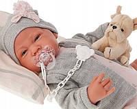 Кукла младенец Валерия в сером Antonio Juan 3386