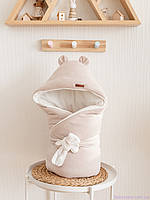 """Одеяло конверт для новорожденного """"Velvet"""", бежевый, фото 1"""